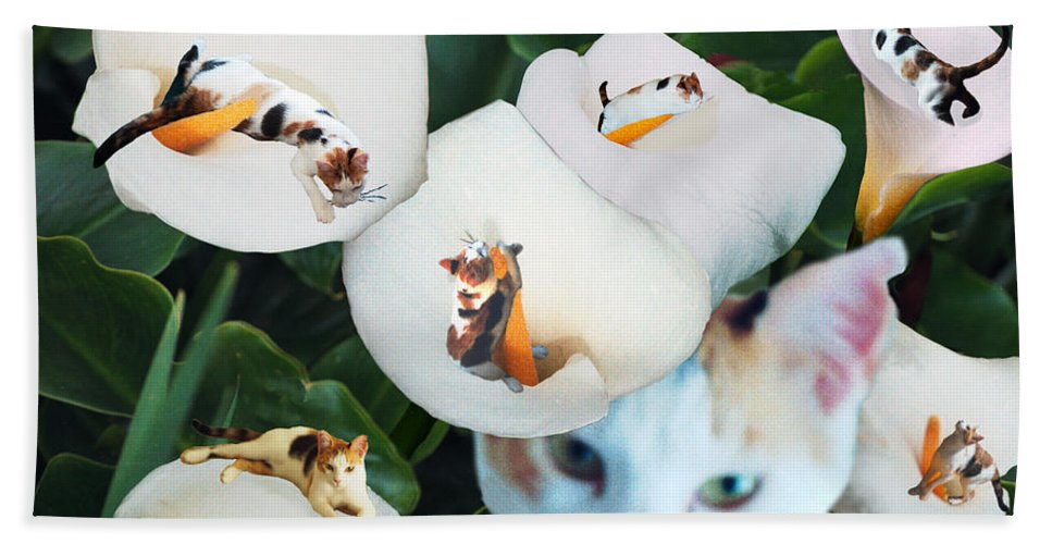 Cat Hand Towel featuring the digital art Cala In Callas by Lisa Yount