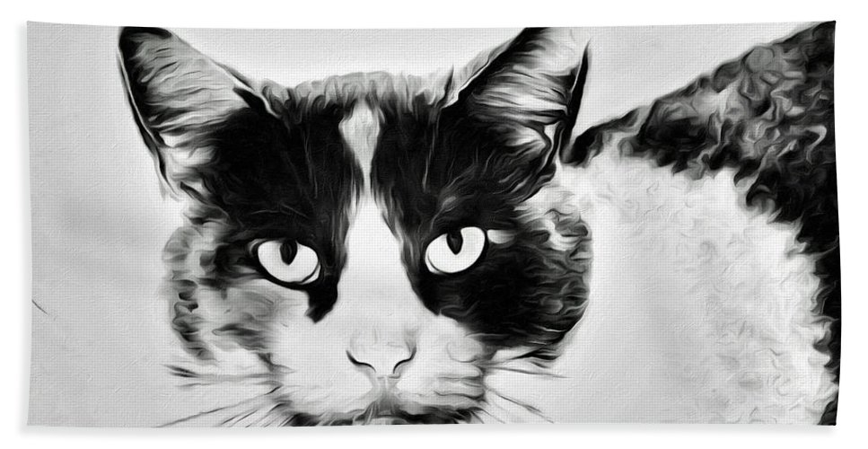 Cat Portrait Bath Sheet featuring the photograph Calico Kitty by Alice Gipson