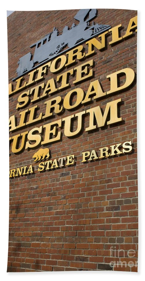 Travel Bath Sheet featuring the photograph California State Railroad Museum by Jason O Watson