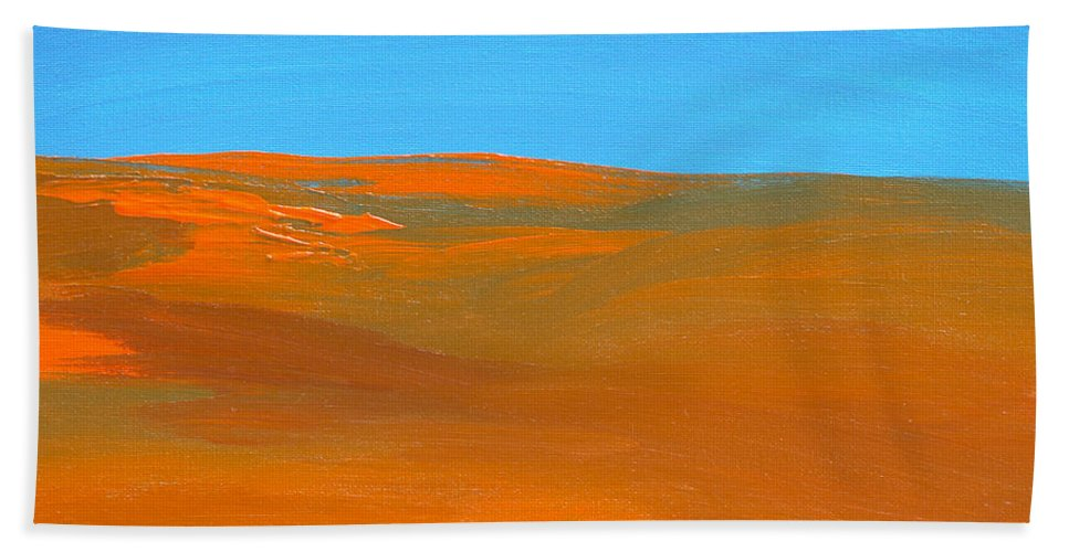 California Bath Sheet featuring the painting California Summer by Donna Blackhall