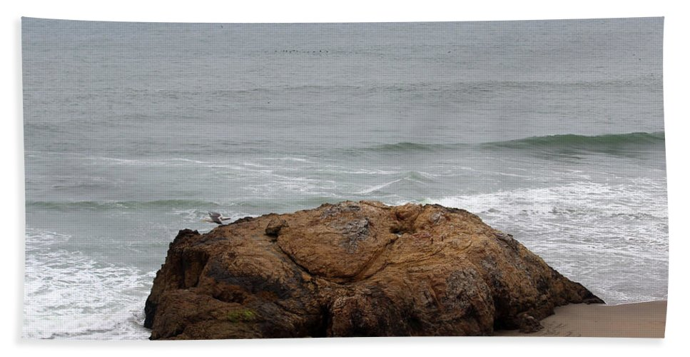 California Hand Towel featuring the photograph California Rock by Becca Buecher