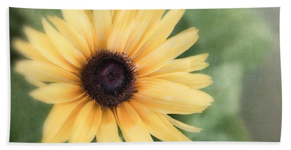 Yellow Flower Bath Sheet featuring the photograph Call Me Mellow Yellow by Kim Hojnacki