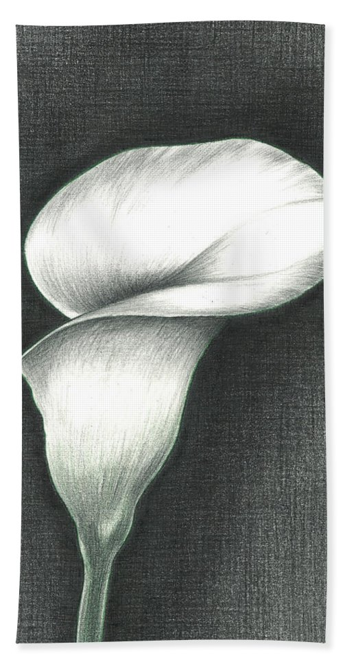 Calla Lily Hand Towel featuring the photograph Calla Lily by Troy Levesque