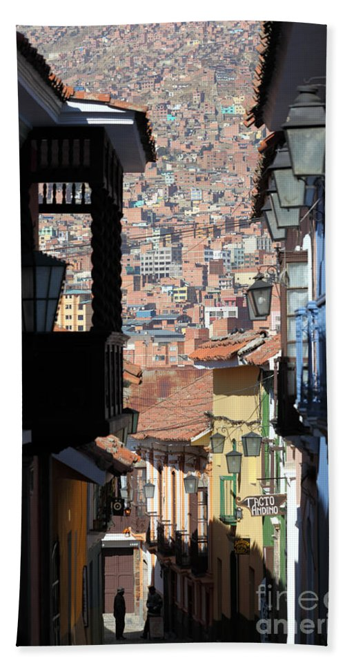 Bolivia Hand Towel featuring the photograph Calle Jaen La Paz by James Brunker