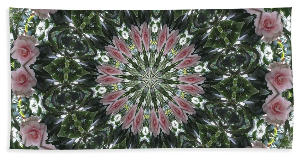 Kaleidoscope Hand Towel featuring the photograph Camellia Garden by Lena Photo Art