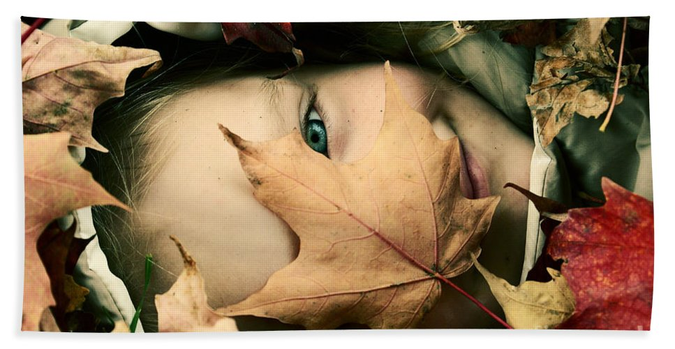 Autumn Photography Prints Hand Towel featuring the photograph Camouflage by Aimelle