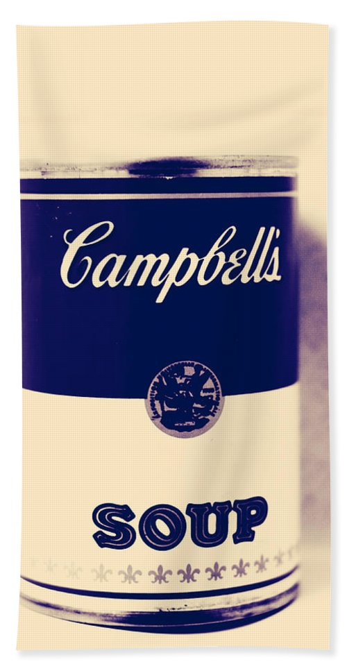 Campbells Soup Bath Sheet featuring the photograph Campbells Soup by The Artist Project