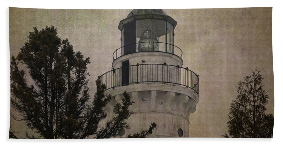 Beacon Bath Sheet featuring the photograph Cana Island Light by Joan Carroll