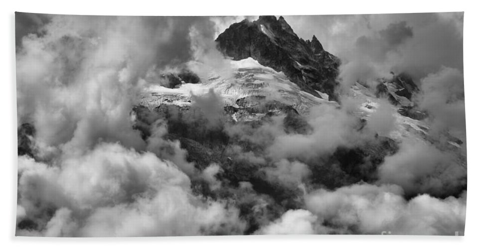 Glacier Mountains Bath Sheet featuring the photograph Canadian Coastal Mountains - Tantalus Mountains by Adam Jewell