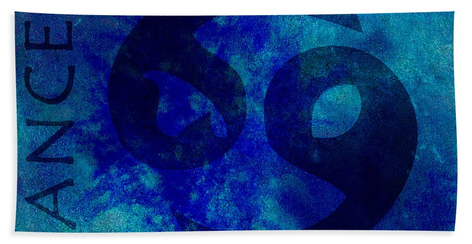 Cancer Hand Towel featuring the digital art Cancer by Joelle Bhullar