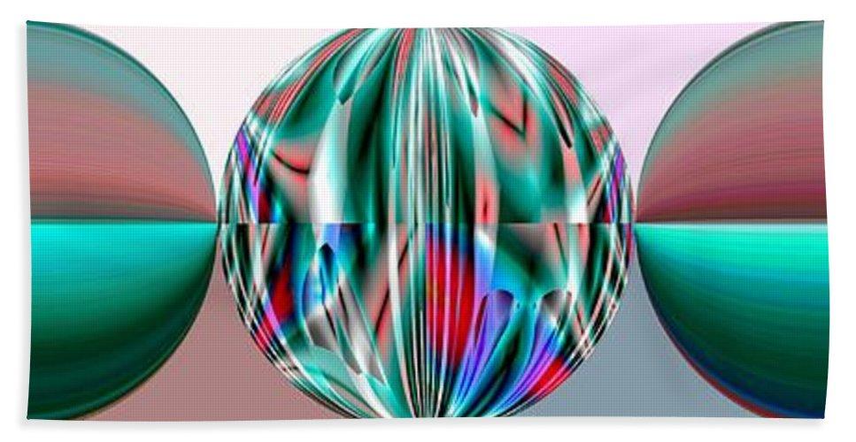 Circles Bath Sheet featuring the digital art Cancer by John Holfinger