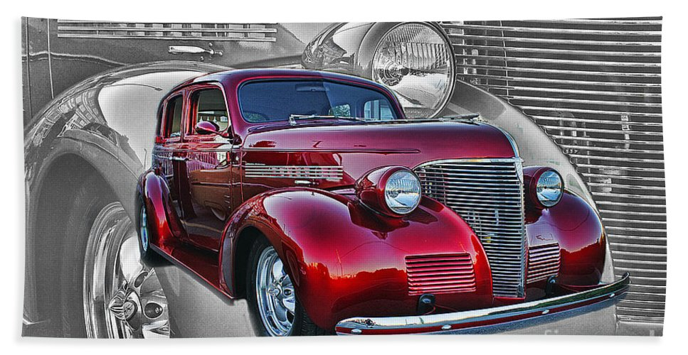 Cars Bath Sheet featuring the photograph Candy Apple Red by Randy Harris
