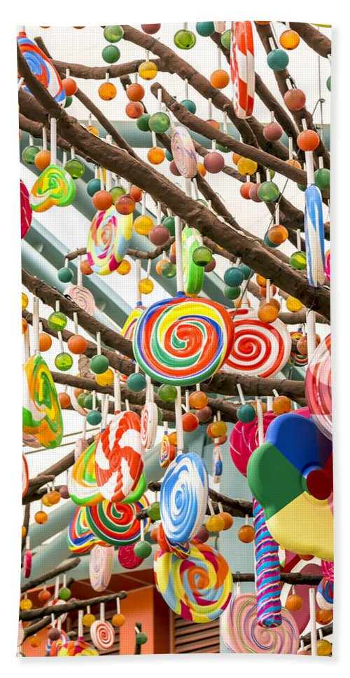 Anise Bath Sheet featuring the photograph Candy Tree by Jijo George