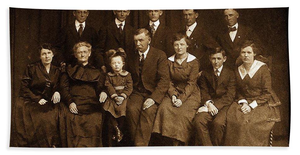 Album Bath Sheet featuring the photograph Cannon Family Portrait Circa 1912 by Ellen Cannon