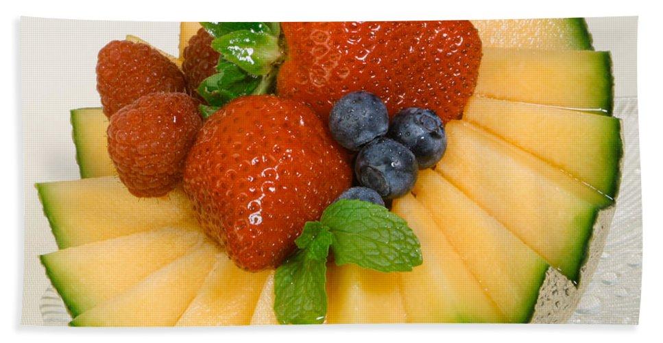 Iris Holzer Richardson Bath Sheet featuring the photograph Cantaloupe Breakfast by Iris Richardson