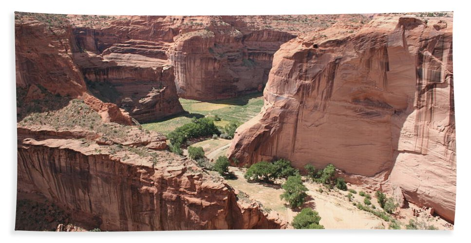 Canyon Bath Sheet featuring the photograph Canyon De Chelly Arizona by Christiane Schulze Art And Photography