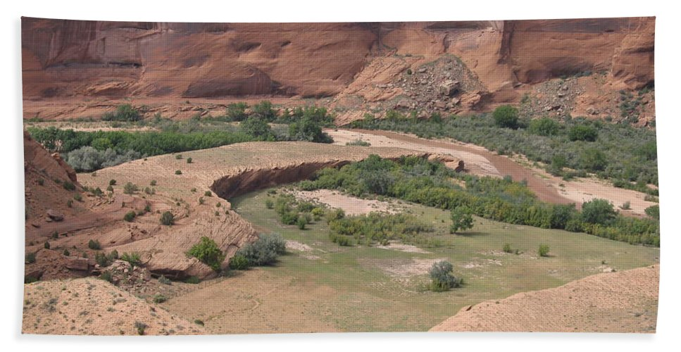 Canyon Bath Sheet featuring the photograph Canyon De Chelly View by Christiane Schulze Art And Photography