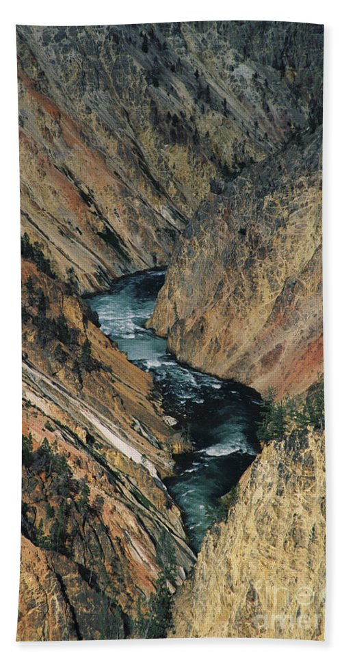Yellowstone Hand Towel featuring the photograph Canyon Jewel by Kathy McClure