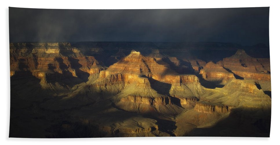 Grand Canyon National Park Hand Towel featuring the photograph Canyon Light by Peter Coskun