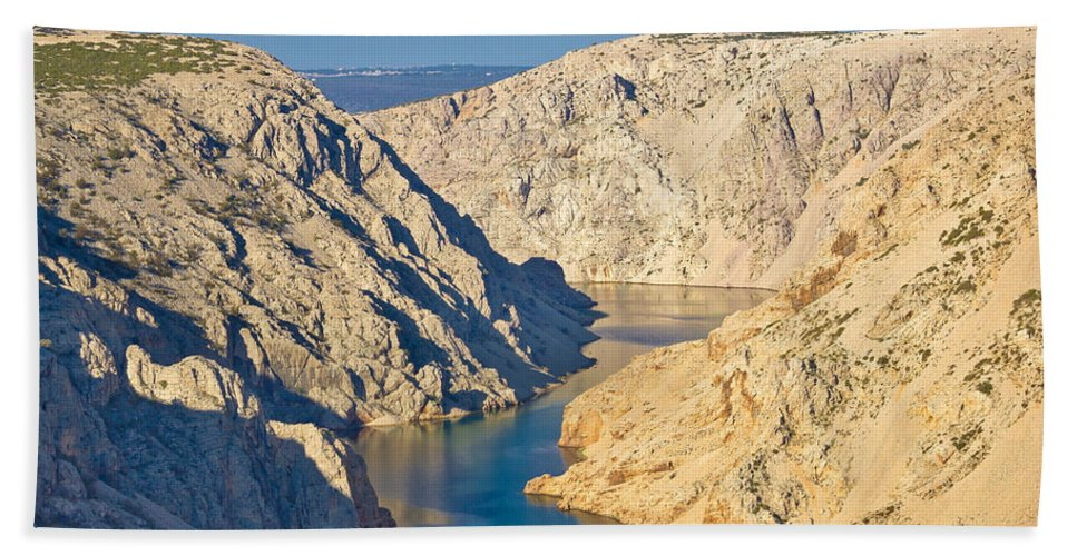Zrmanja Hand Towel featuring the photograph Canyon Of Zrmanja River In Croatia by Brch Photography