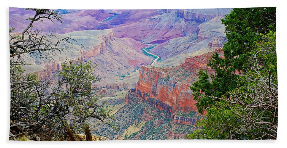 Canyon View From Walhalla Overlook On On North Rim/grand Canyon National Park Bath Sheet featuring the photograph Canyon View From Walhalla Overlook On North Rim Of Grand Canyon-arizona by Ruth Hager