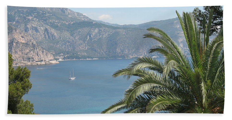Mediterranean Sea Bath Sheet featuring the photograph Cap Ferrat by Christiane Schulze Art And Photography