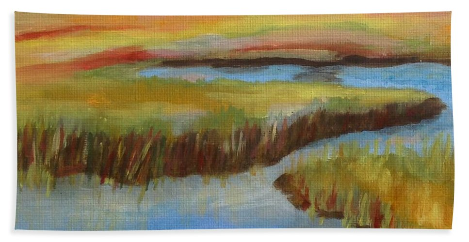 Cape Cod Hand Towel featuring the painting Cape Cod Colors by Catherine Maroney