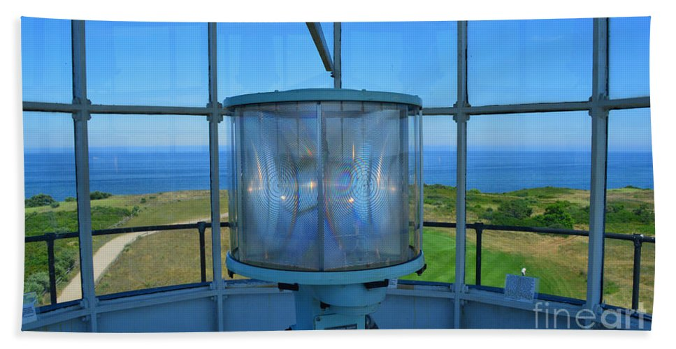 Cape Cod Hand Towel featuring the photograph Cape Cod Lighthouse View by Meandering Photography