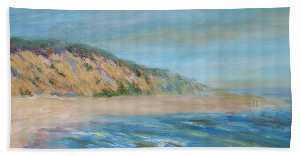 Cape Cod Bath Sheet featuring the painting Cape Cod National Seashore by Pamela Parsons