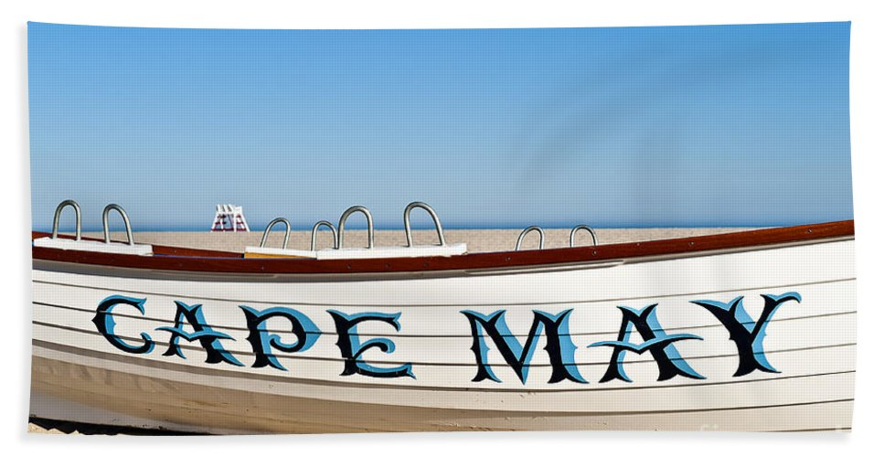 Beach Bath Sheet featuring the photograph Cape May New Jersey by John Greim