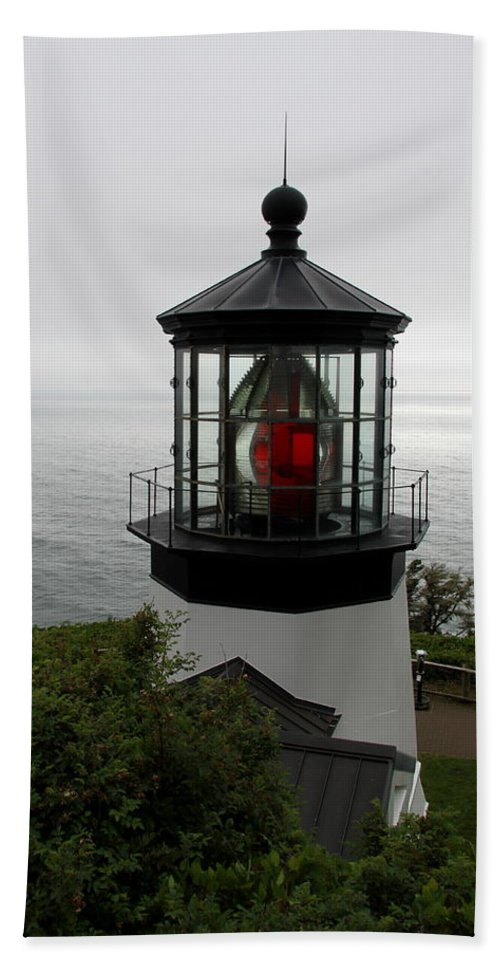 Cape Meares Hand Towel featuring the photograph Cape Meares Light by Christiane Schulze Art And Photography