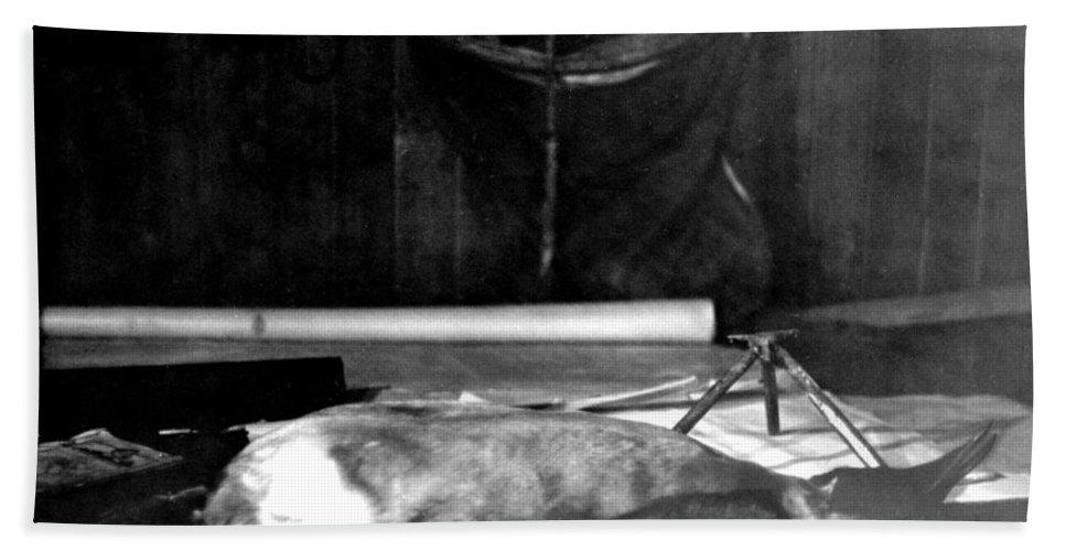 Cape Evans Bath Sheet featuring the photograph Capeevanshut-antarctica-g.punt-18 by Gordon Punt