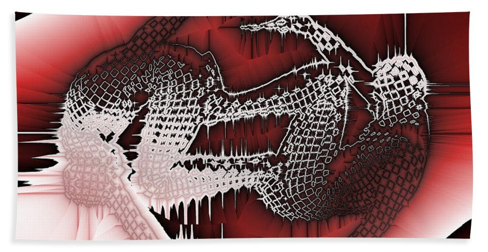 Abstract Hand Towel featuring the digital art Capoeira 9 by Jack Bowman
