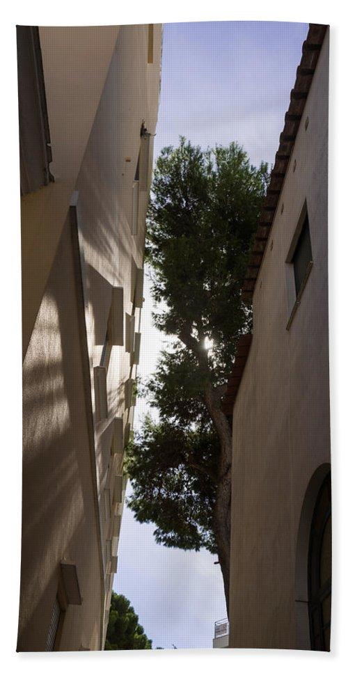 Shadows Hand Towel featuring the photograph Capri - The Mediterranean Sun Painting Playful Shadows On Facades by Georgia Mizuleva