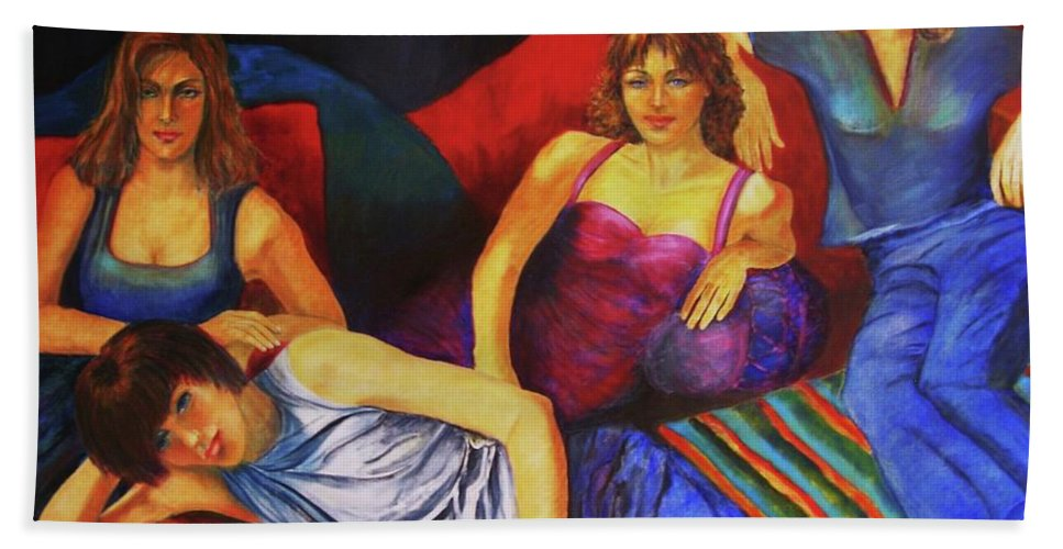 Capricious-luck-painting Bath Sheet featuring the painting Capricious Luck by Dagmar Helbig