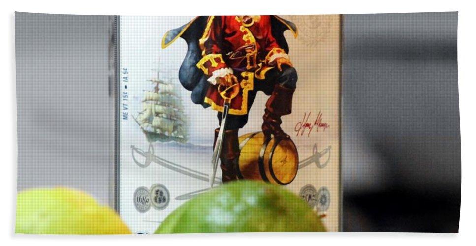 Captain Morgan Bath Sheet featuring the photograph Captain Morgan by Wendy Gertz