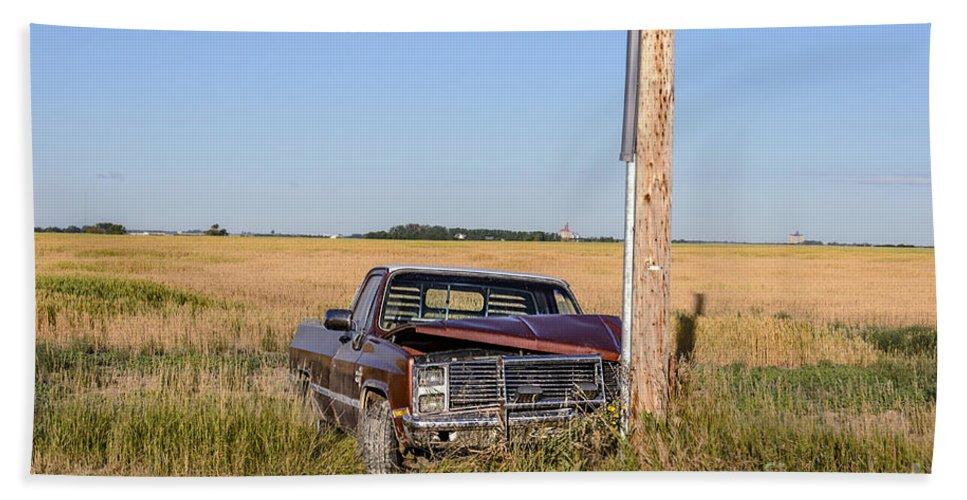 Landscape Bath Sheet featuring the photograph Car Accident by Viktor Birkus
