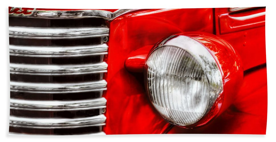 Savad Bath Sheet featuring the photograph Car - Chevrolet by Mike Savad