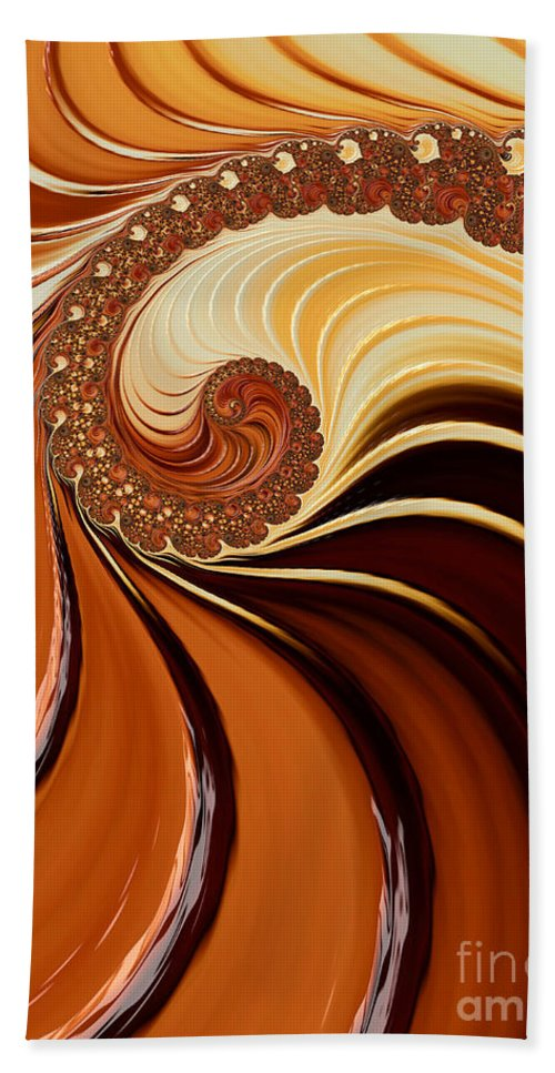 Background Hand Towel featuring the digital art Caramel by Heidi Smith