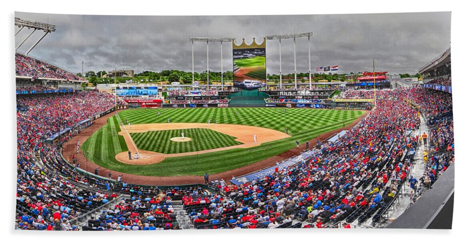 Baseball Bath Sheet featuring the photograph Cardinals At The K by C H Apperson