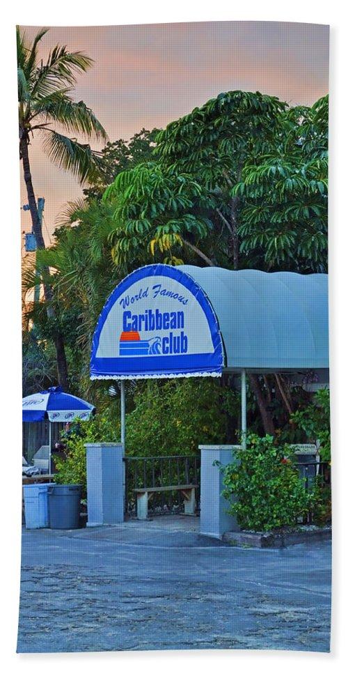 Caribbean Club Key Largo Bath Sheet featuring the photograph Caribbean Club Key Largo by Chris Thaxter