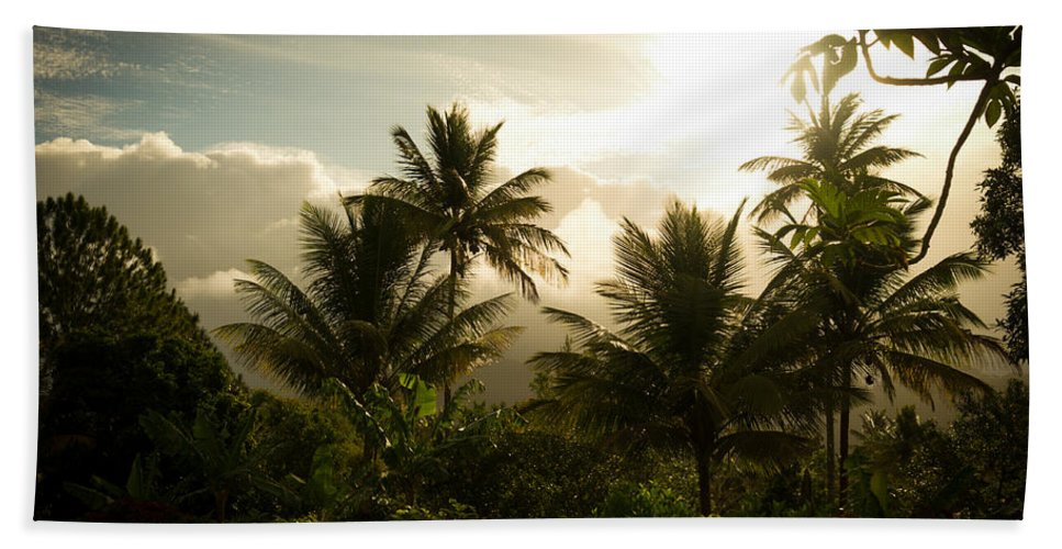 Saint Lucia Bath Sheet featuring the photograph Caribbean Daybreak by Ferry Zievinger