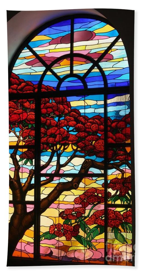 Stained Glass Hand Towel featuring the photograph Caribbean Stained Glass by The Art of Alice Terrill