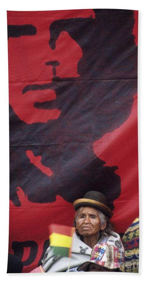 Che Guevara Hand Towel featuring the photograph Caring Che by James Brunker