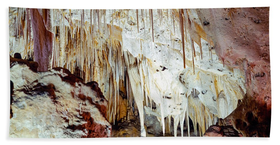 Carlsbad Caverns Bath Sheet featuring the photograph Carlsbad Caverns by Tracy Knauer