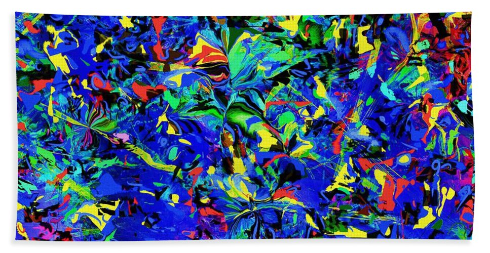 Fine Art Bath Sheet featuring the digital art Carnival 2015 by David Lane