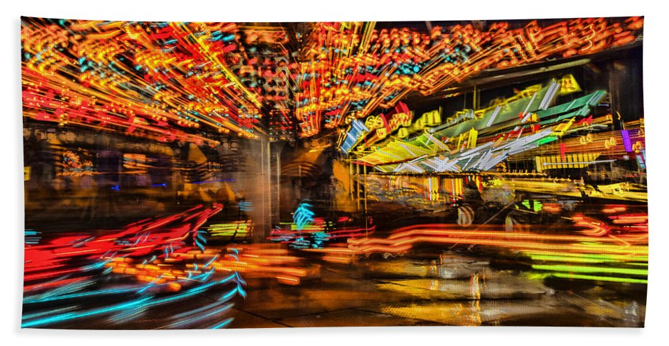 County Fair Hand Towel featuring the photograph Carnival by Diana Powell