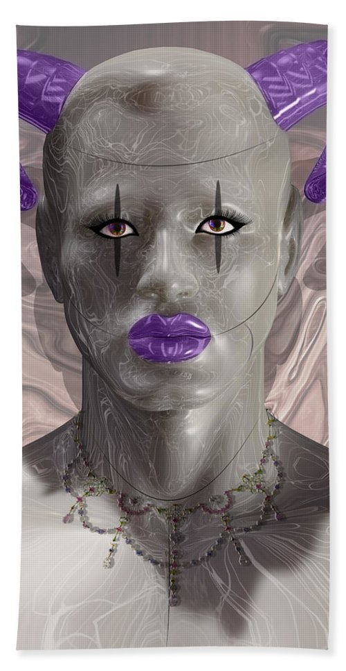 Carnival Hand Towel featuring the digital art Carnival Of Robotic Dionysus by Quim Abella