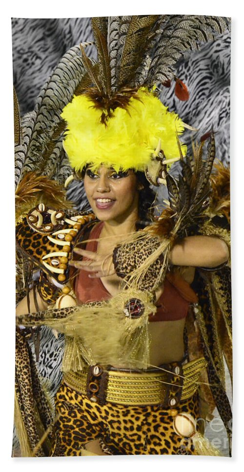 Carnival Bath Sheet featuring the photograph Samba Beauty 2 by Bob Christopher