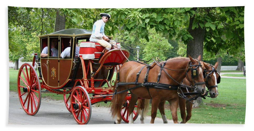 Carriage Bath Sheet featuring the photograph Carriage by Christiane Schulze Art And Photography